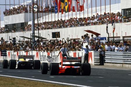 Llegada GP Hungría 1990