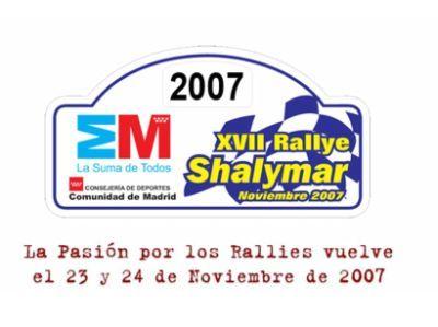 Horarios Rally Shalymar 2007 y la pre-inspección para el nacional