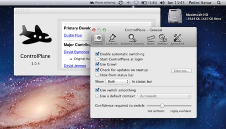 Cómo utilizar las acciones de contexto para gestionar nuestro Mac con ControlPlane