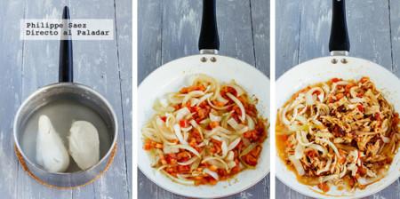 Baguette Pollo Chipotle Prep