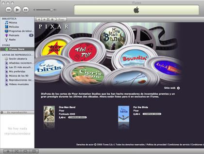Los cortos de Pixar en la iTunes Store