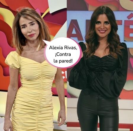 María Patiño y sus secuaces de 'Socialité' se mofan de Alexia Rivas en pleno directo