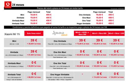 Precios Xiaomi Mi 11i A Plazos Con Tarifas Vodafone