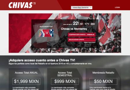 Chivas Tv Precios