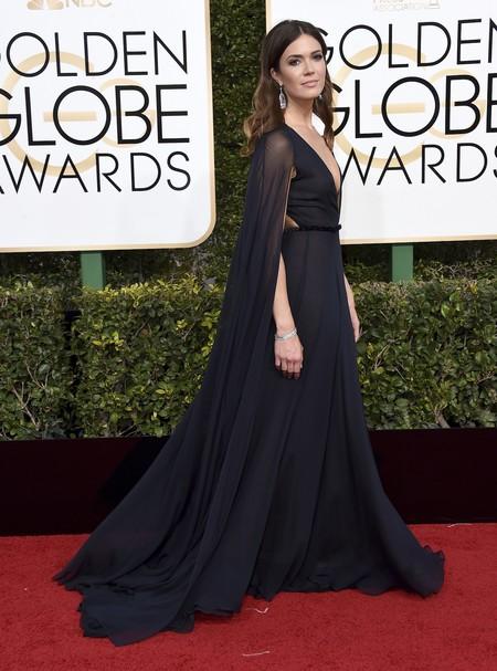 Mandy Moore De Naeem Khan Globos De Oro 2017