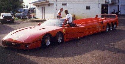 El Ferrari de 10 ruedas y otras grandes limusinas