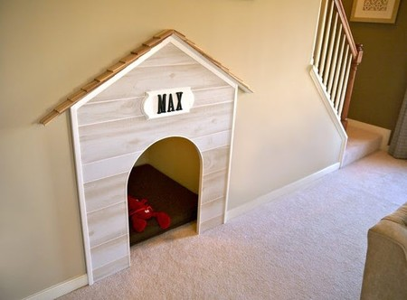 Built In Dog Bed Under Stairs.