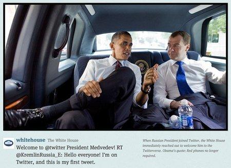 Obama, en el tweet de la Casa Blanca