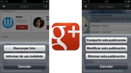 Google actualiza la aplicación de Google+ en iOS y Android y ya permite gestionar páginas desde ella