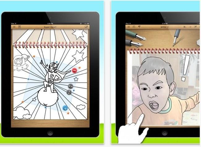 iColoringBook, opciones de colorear y dibujar