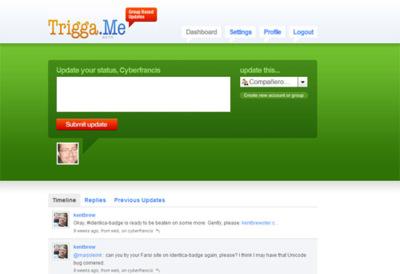 Trigga.me, controla donde publica tus mensajes de estado