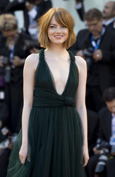 Emma Stone inaugura de verde el Festival de Venecia 2014