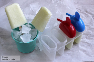 Polos sencillos de melón y yogur. Receta