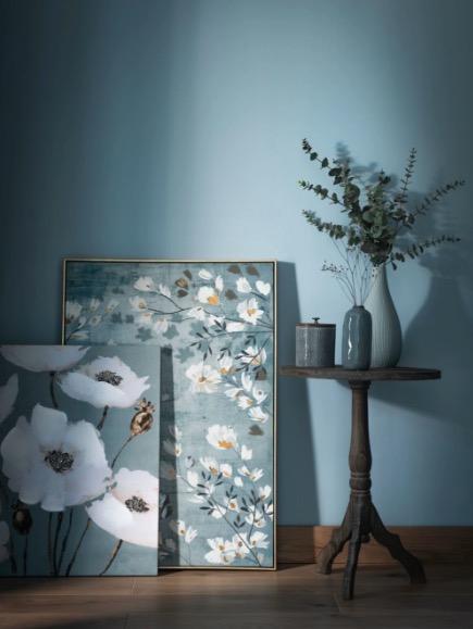 Lienzo con estampado floral 65x65 Apoline