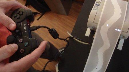Jugando en una impresora con un mando de la PS3