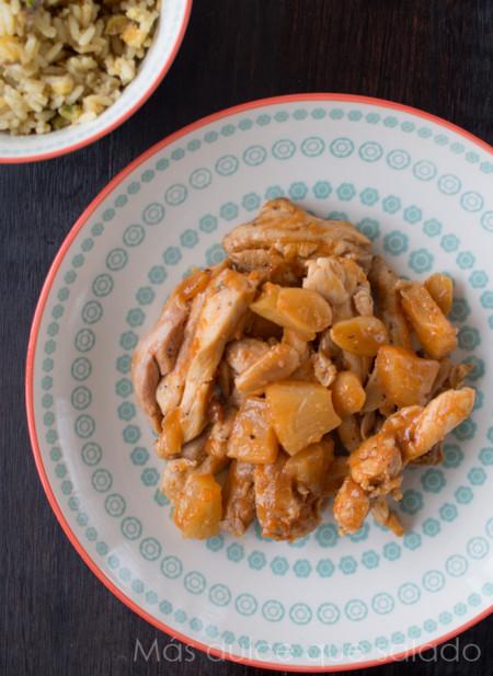 Pollo Con Almendras Y Pina 1