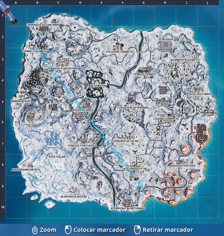 Mapa Fortnite Nevado