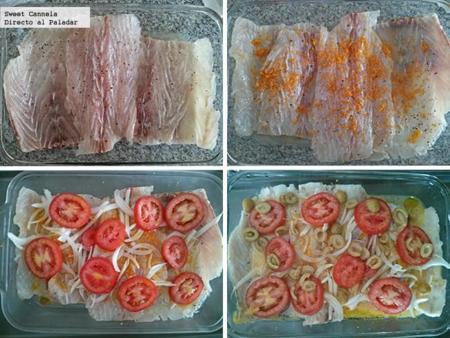 Preparacion pescado naranja