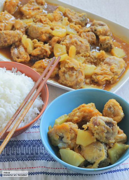 Receta de pollo con piña al estilo chino
