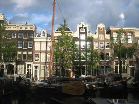 Casas al atardecer Amsterdam