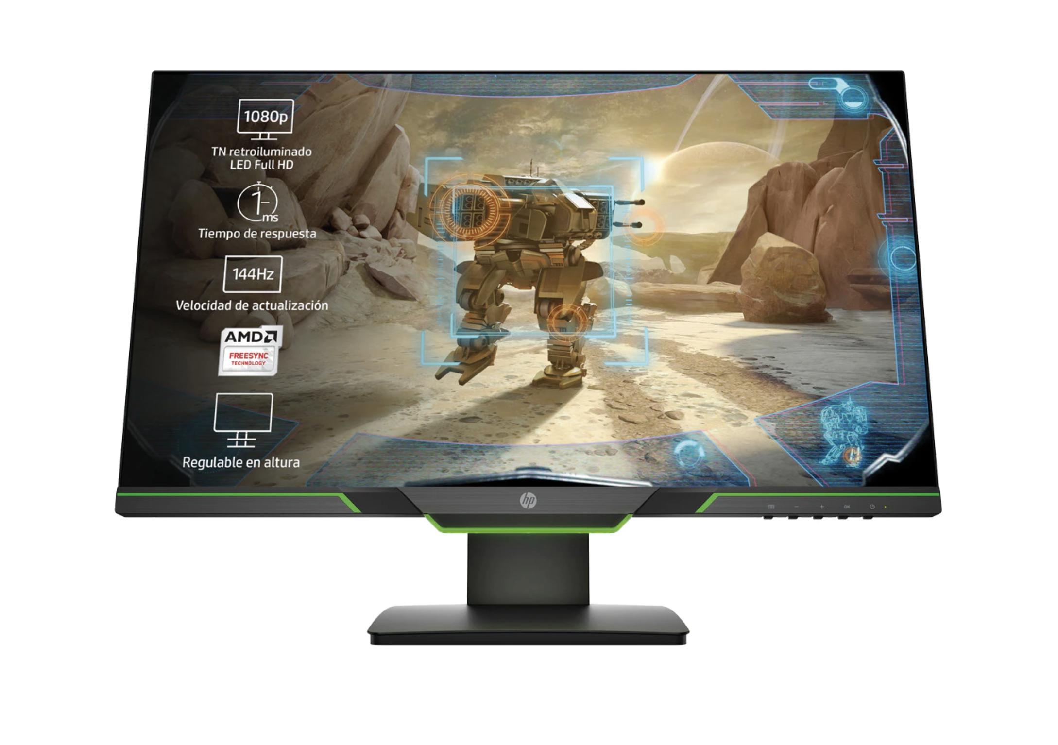 "Monitor PC Gaming 62,23 cm (24,5"") HP 25x, 144 Hz, Full HD, AMD FreeSync"