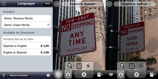 Word Lens realidad aumentada traductor