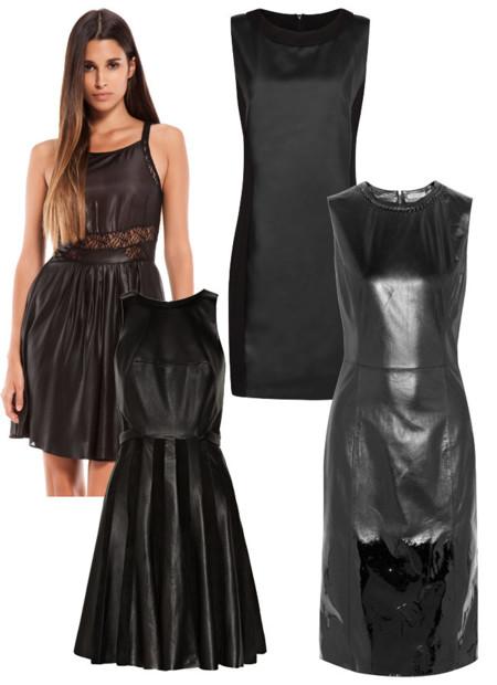 Vestidos cuero moda