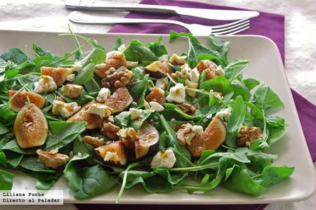 Ensalada de higos, queso de cabra y nueces con vinagreta de melaza: receta para ir preparando el otoño