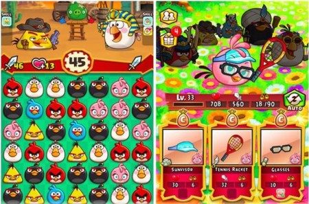 La familia Angry Birds crece con dos nuevos free-to-play: un Candy Crush y un Puzzle Bobble
