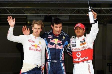 Tercera pole position consecutiva para Mark Webber