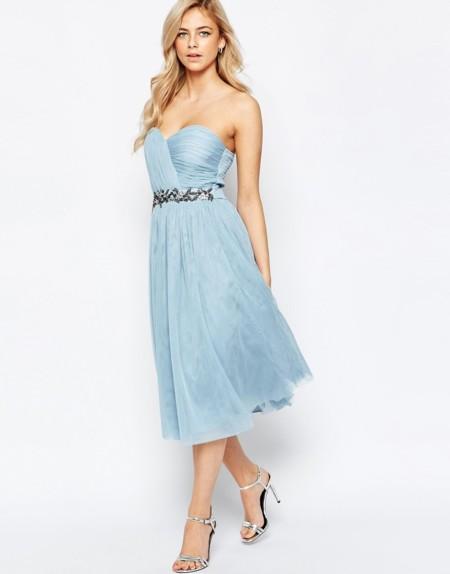 Vestido Tul Azul Cielo
