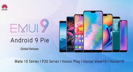 Huawei Mate 10, Huawei P20, Honor Play, Honor 10 y más reciben la actualización a Android Pie