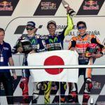 Podio de récord en Jerez. Valentino Rossi, Jorge Lorenzo y Marc Márquez siguen destrozando los números