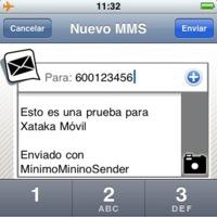 Mínimo Minino Sender, envía MMS desde el iPhone