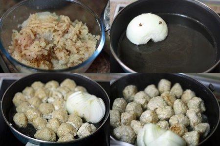 Receta de albóndigas indias de pollo picantes. Pasos