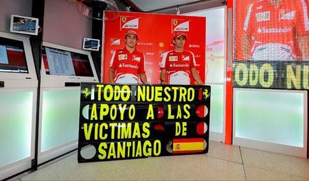 La Fórmula 1 muestra su solidaridad con las víctimas del accidente de Santiago