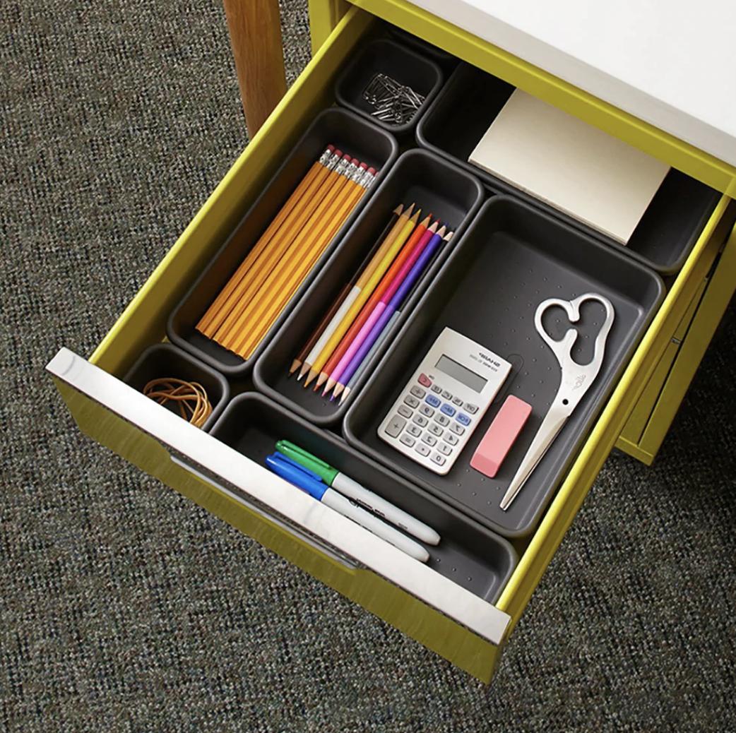 Organizador de cajones de escritorio
