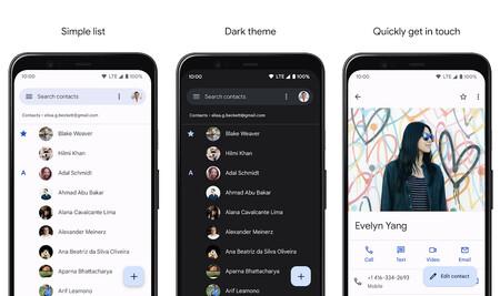 Contactos de Google alcanza los mil millones de descargas y se rediseña con 'Material You' en Android 12