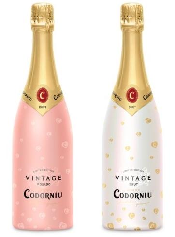 CODORNIU-San Valentín Botellas Edición Limitada Reino Unido
