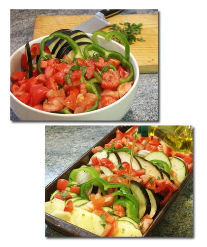gratinado verduras pasos
