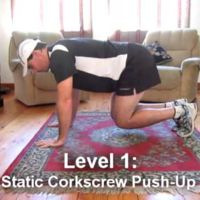 Flexiones sacacorcho, un ejercicio intenso que puedes realizar en casa