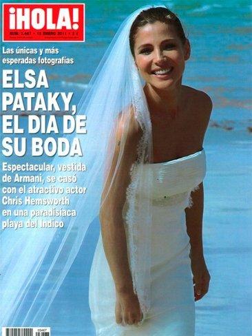 Elsa Pataky, hay que ver qué mona está vestida de novia