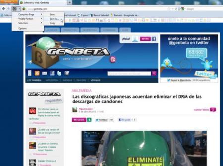 Screenshoter para Firefox.