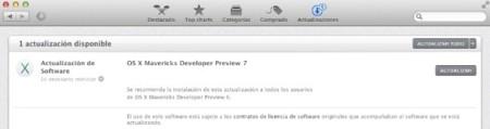 OS X Mavericks Developer Preview 7 ya disponible