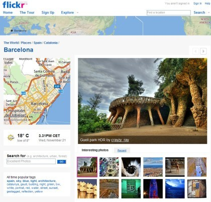 Flickr Places: explora imágenes geoposicionadas por destinos