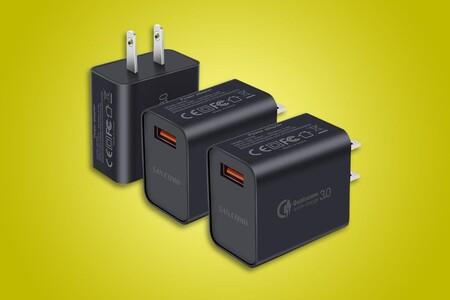Paquete de tres cargadores con carga rápida Qualcomm está disponible por 318 pesos en Amazon México y envío gratis con Prime