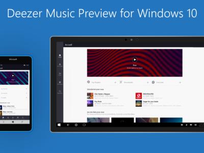 Deezer está trabajando en la versión para Windows 10, y llama a los usuarios a probarla