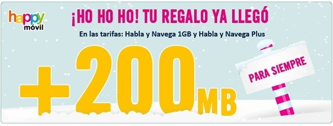 Happy Móvil aumenta gratis los megas de sus tarifas habla y navega