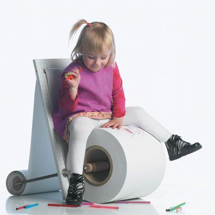 Childrens Paper Chair, una silla de papel