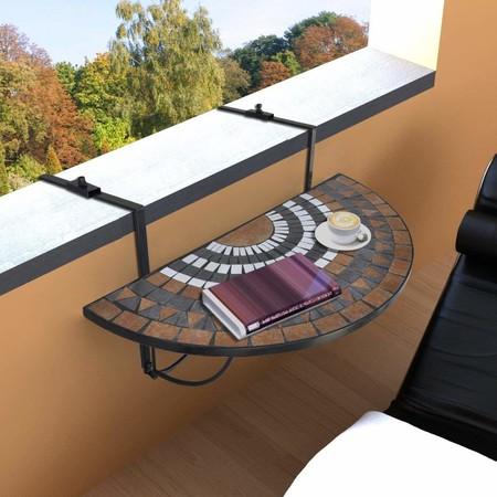 Mesa para colgar en terraza